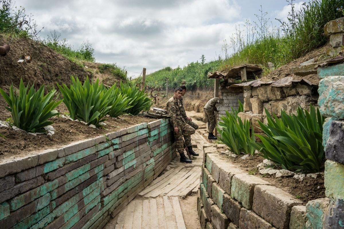 Nagorno-Karabakh war trench