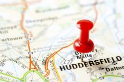 Huddersfield on map