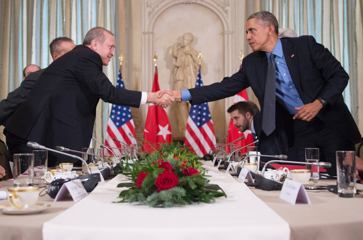 Erdogan and Obama met at a security