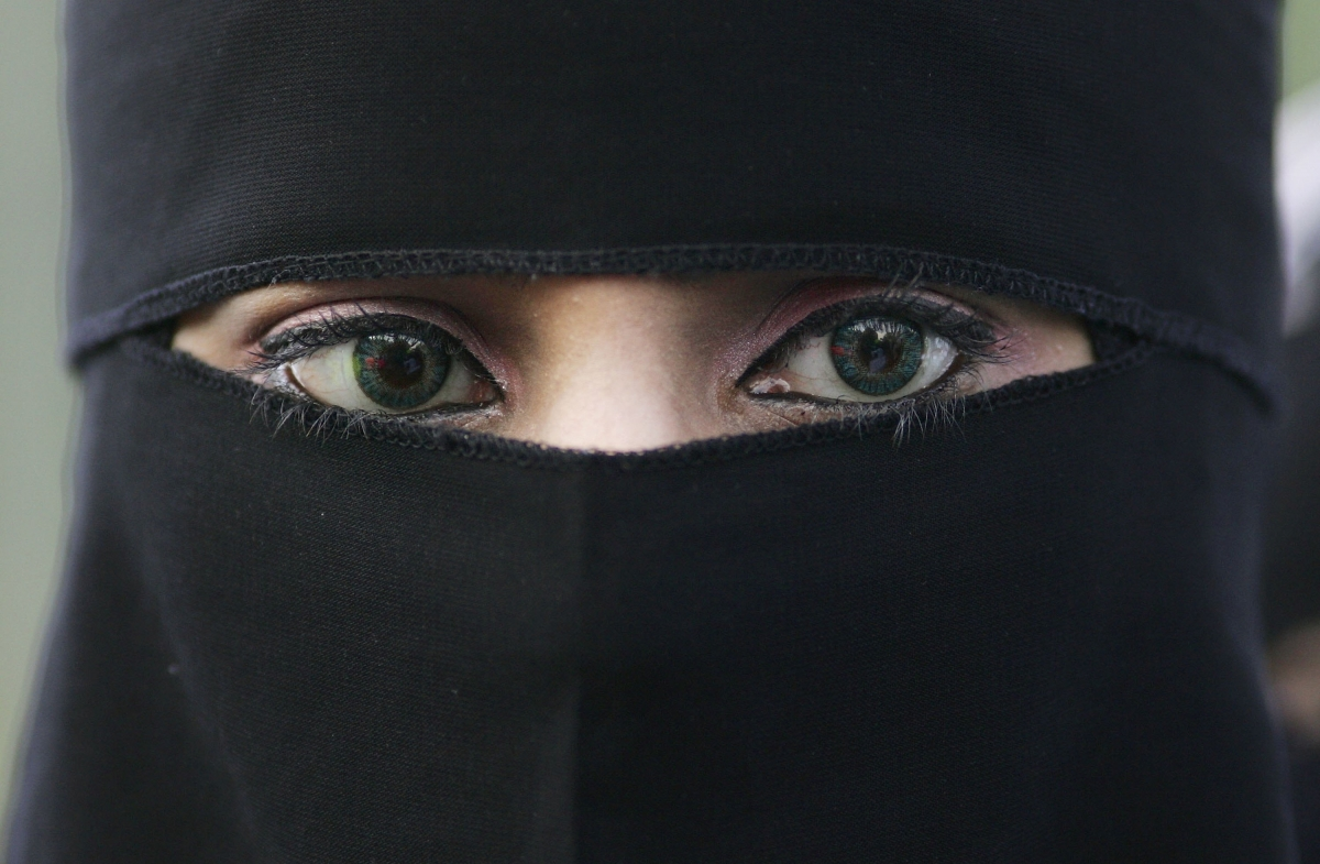 Muslim woman in niqab