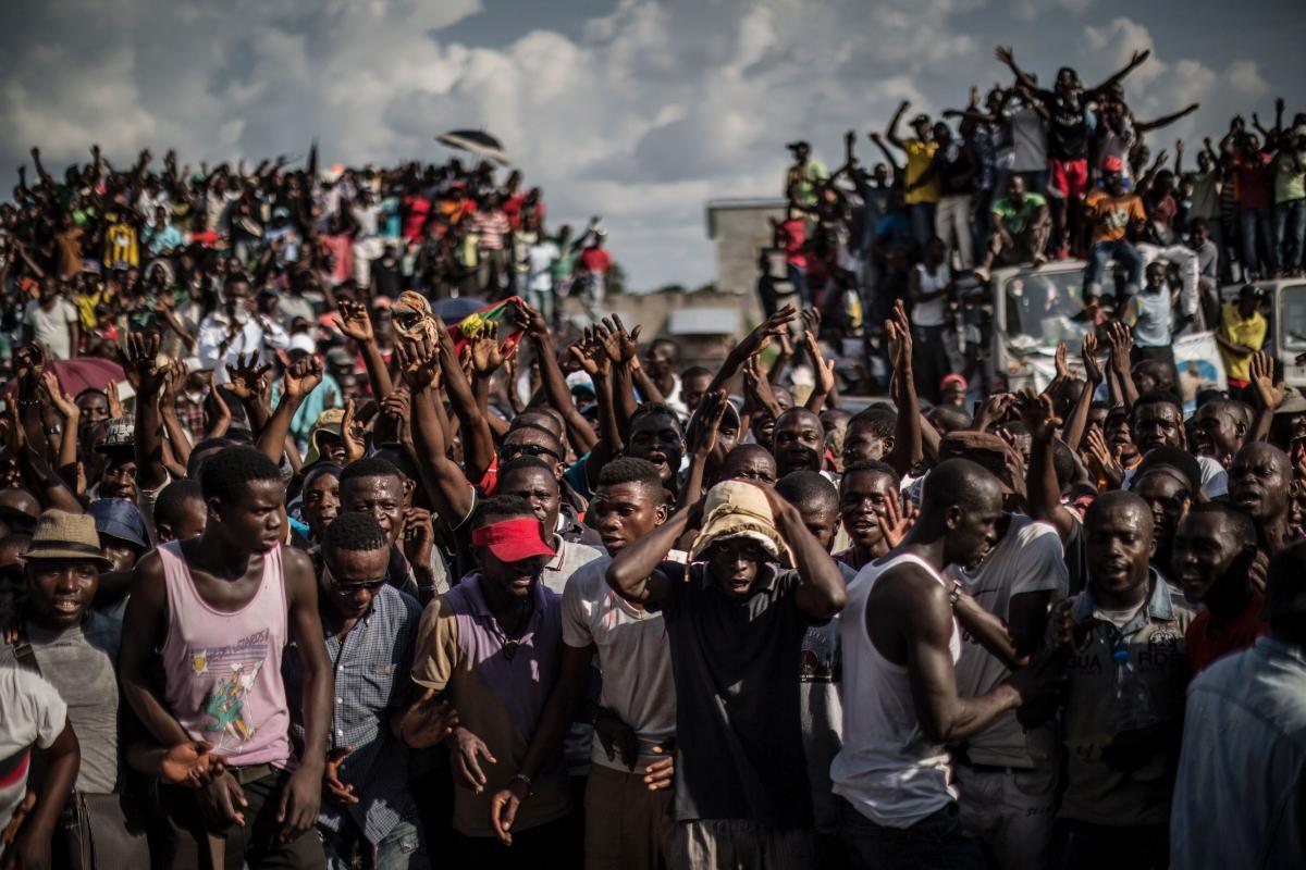Demonstration in Brazzaville, Congo
