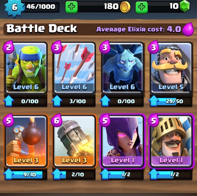 The Clash Royale Deck of Cards