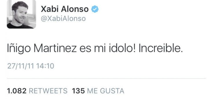 Xabi Alonso Twitter
