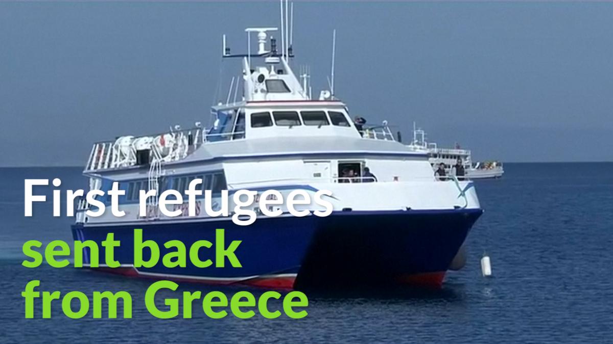 Refugees sent back to Turkey