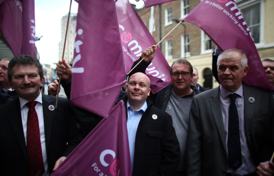Shop stewards from the Community Union