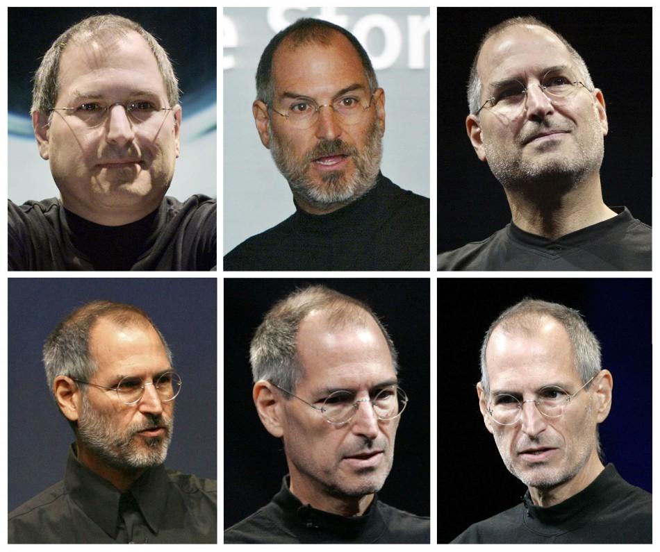 Combination file photos of Apple Inc CEO Steve Jobs