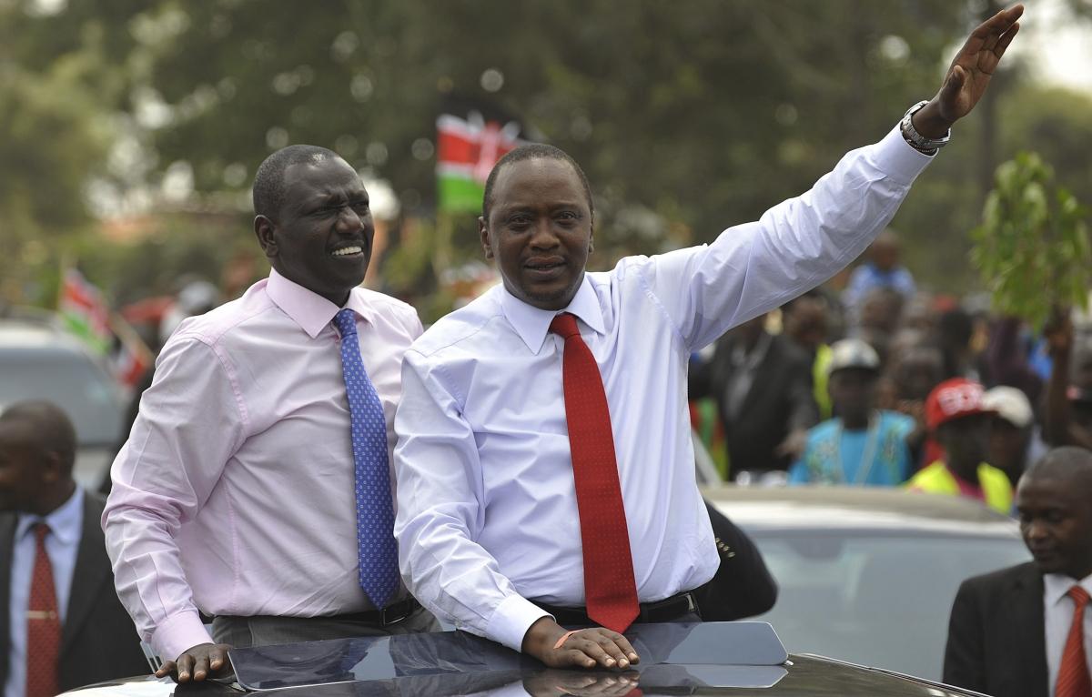 William Ruto and Uhuru Kenyatta