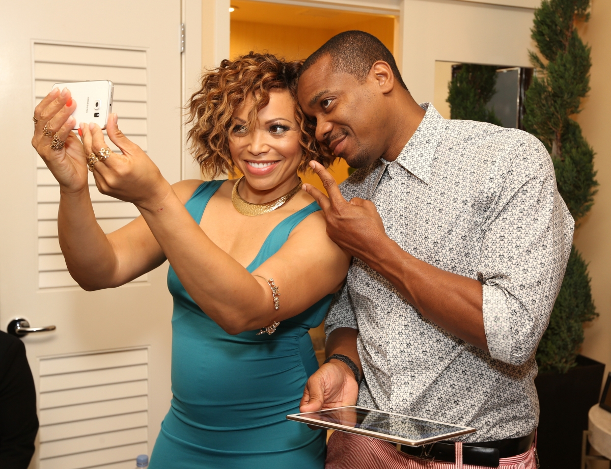 Tisha Campbell-Martin and husband Duane