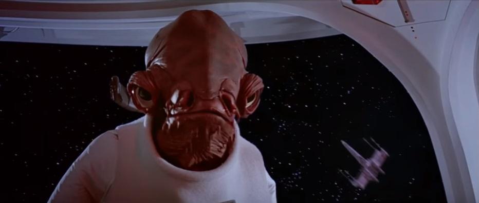Admiral Ackbar in Return Of The Jedi