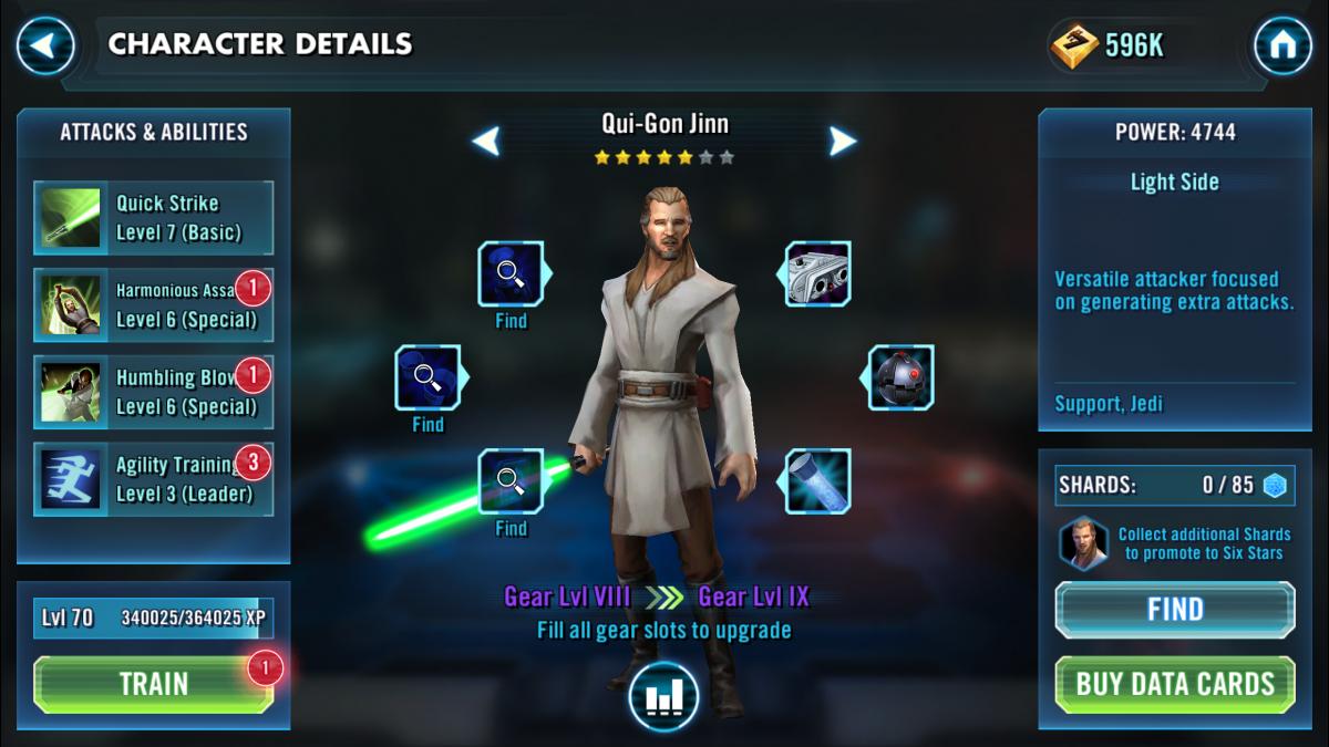 Star Wars Galaxy of Heroes Qui-Gon Jinn
