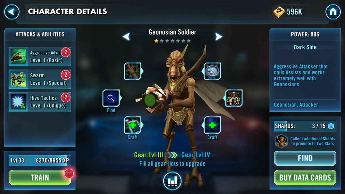 Star Wars Galaxy of Heroes Geonosian Soldier