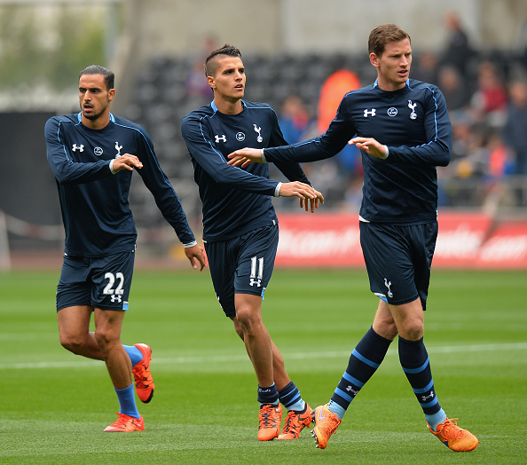 Erik Lamela and Jan Vertonghen