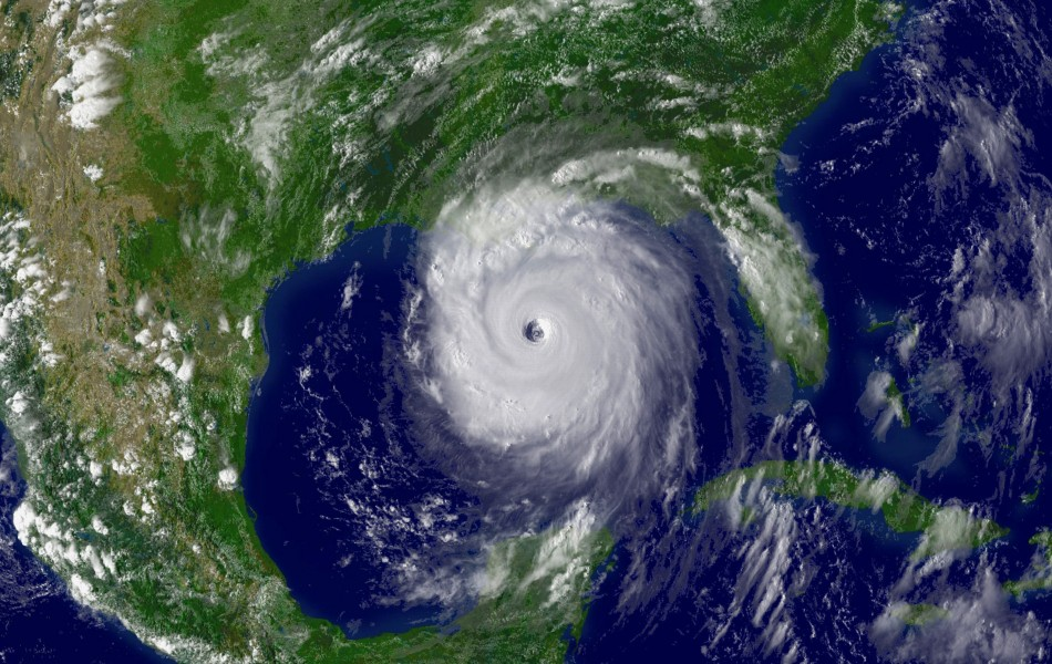 This National Oceanographic and Atmospheric Administration satellite image, taken August 28, 2005 and released August 28, 2006, shows Hurricane Katrina as the storm's outer bands lashed the Gulf Coast the day before landfall. Katrina hit on August 29, 200