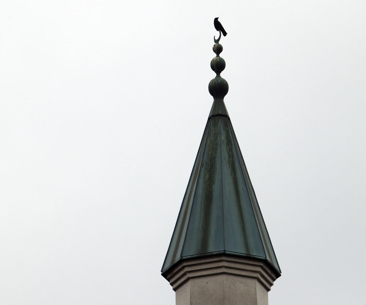 Minaret of a mosque in Geneva