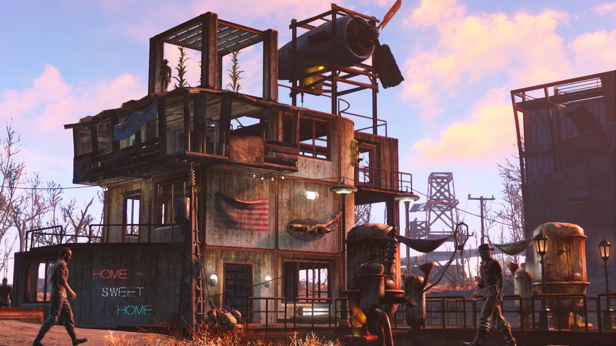 fallout 4 wasteland workshop dlc expansion out 12 april on. Black Bedroom Furniture Sets. Home Design Ideas