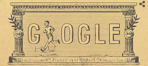 Google Doodle first modern Olympic Games 1896