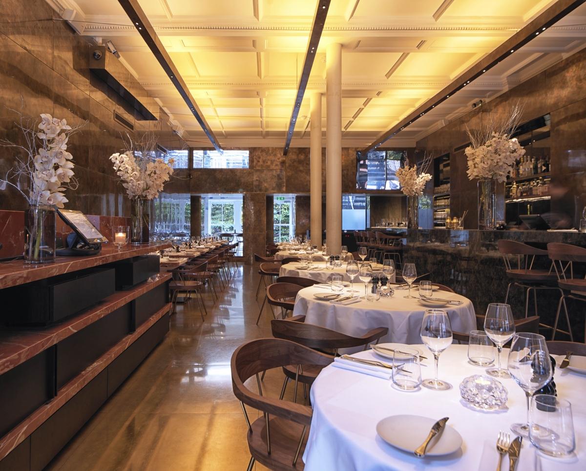 Restaurant interior of 8 Mount Street