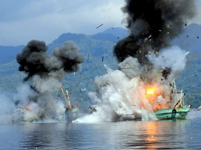 Indonesia fishing boats