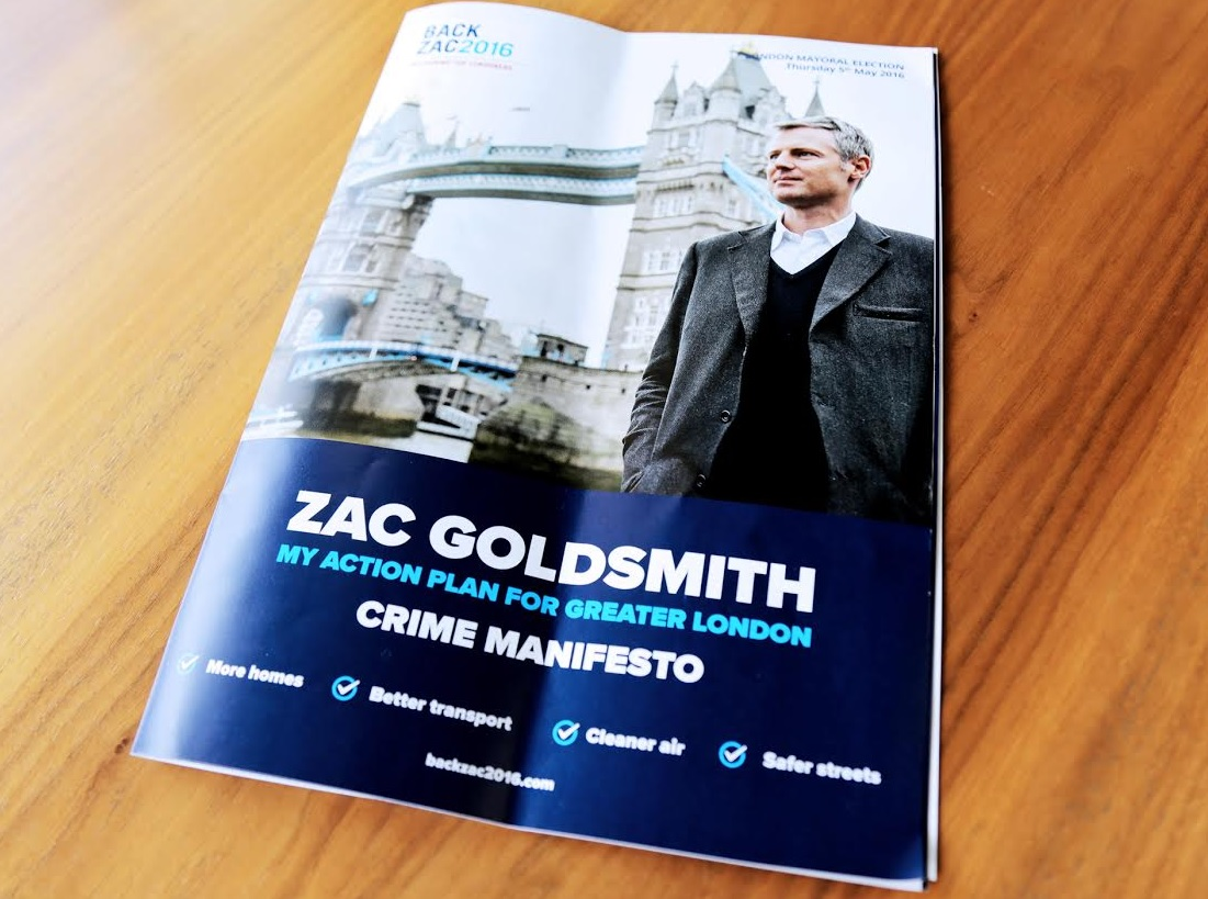 Zac Goldsmith crime manifesto