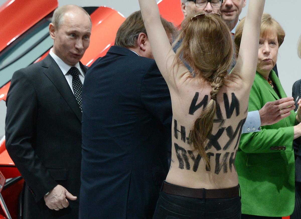 Putin topless