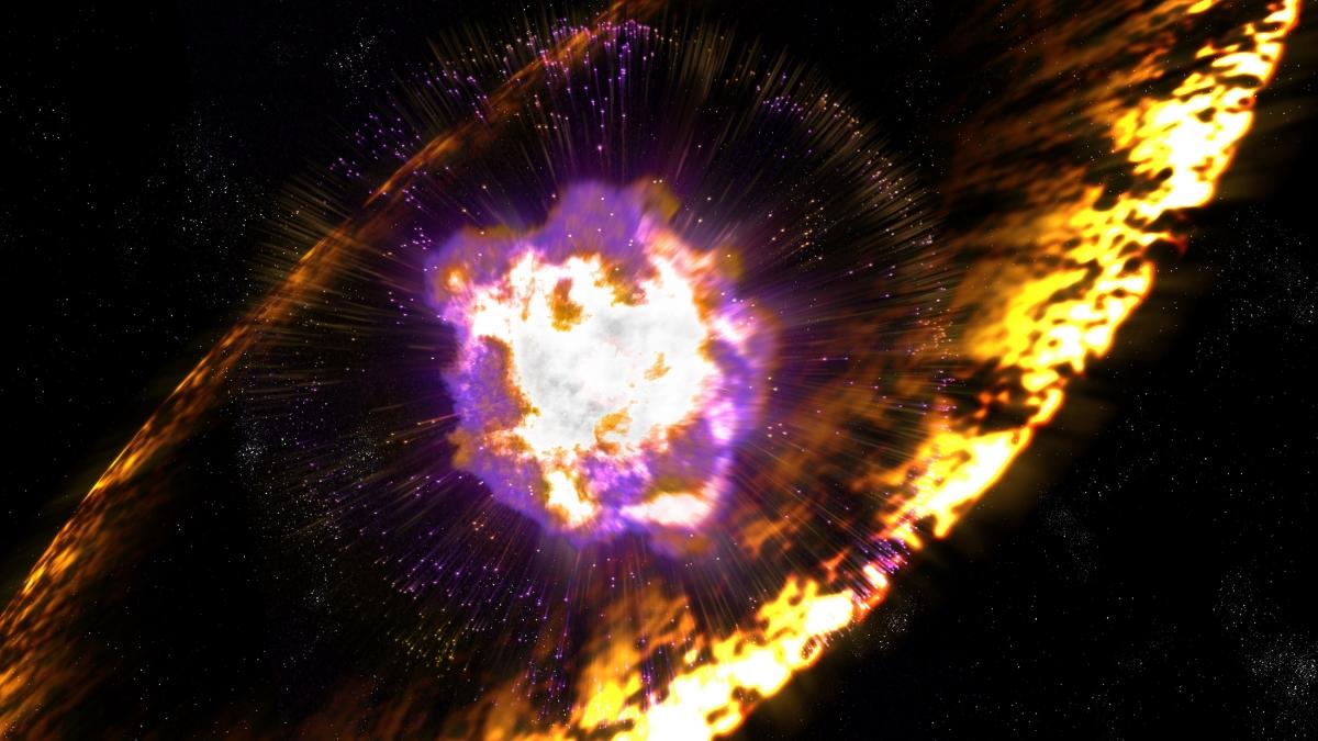radioactive debris supernova earth
