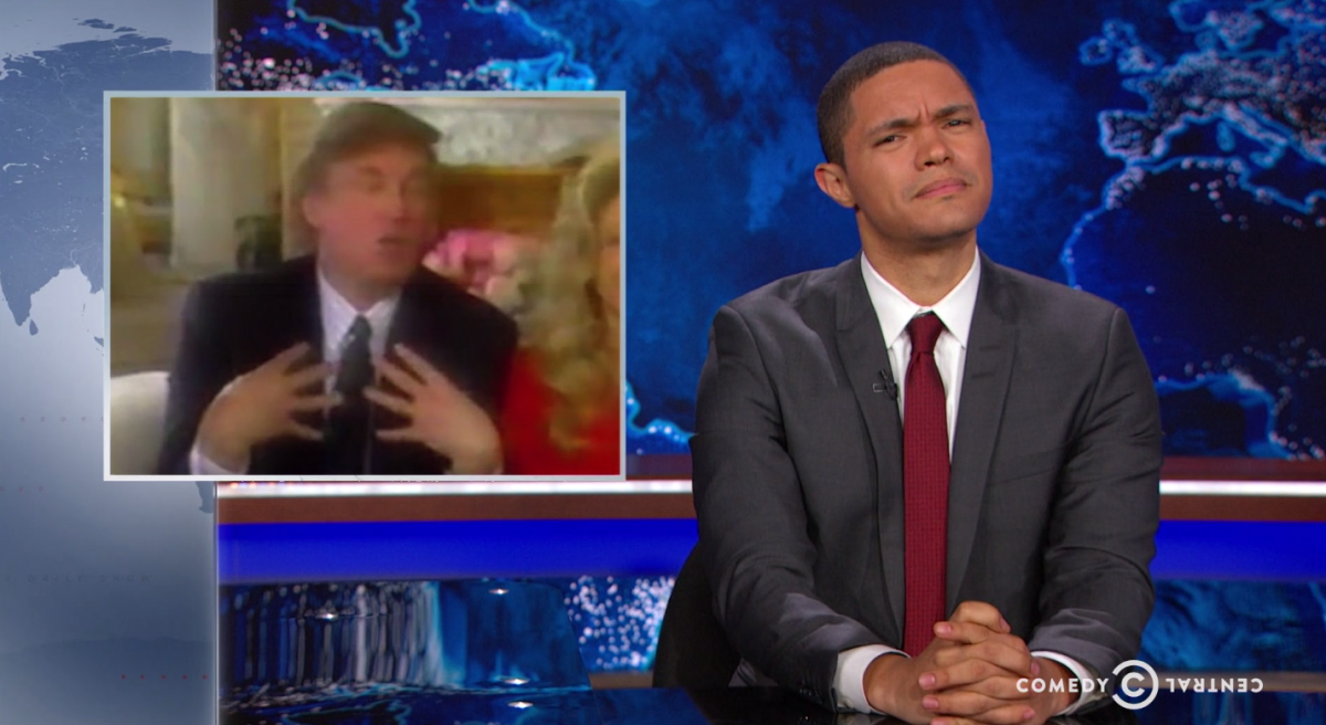 Donald Trump and Trevor Noah