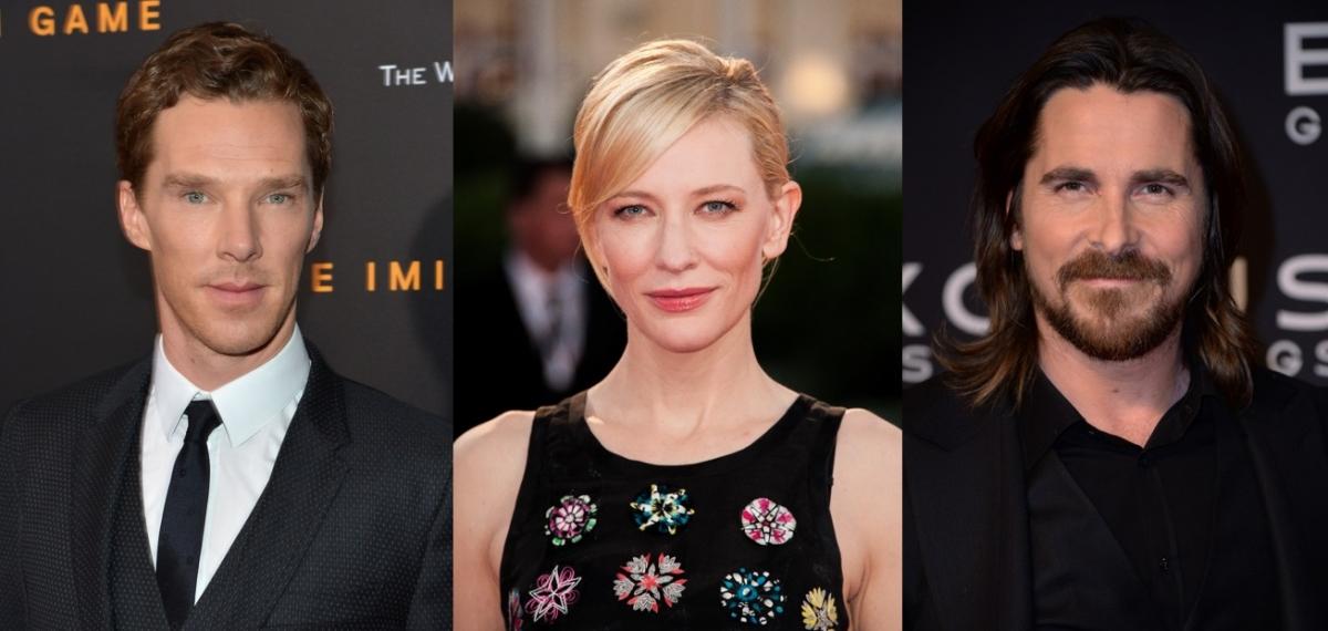 Benedict Cumberbatch, Cate Blanchett and Christian Bale
