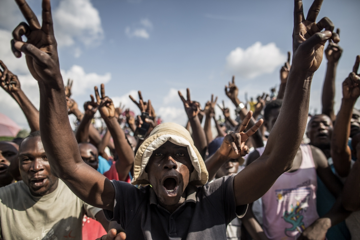 Opposition supporters in Brazzaville, Congo