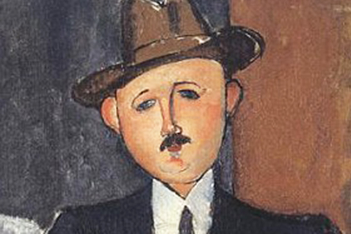 Amadeo Modigliani Seated Man with a Cane