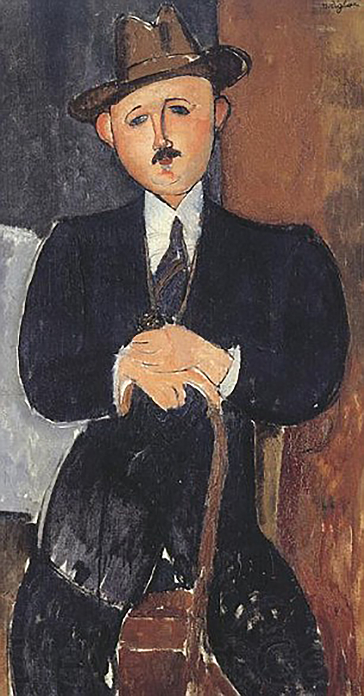 Amadeo Modigliani Seated Man with a Cane