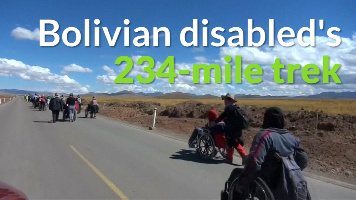 Bolivia wheelchair trek