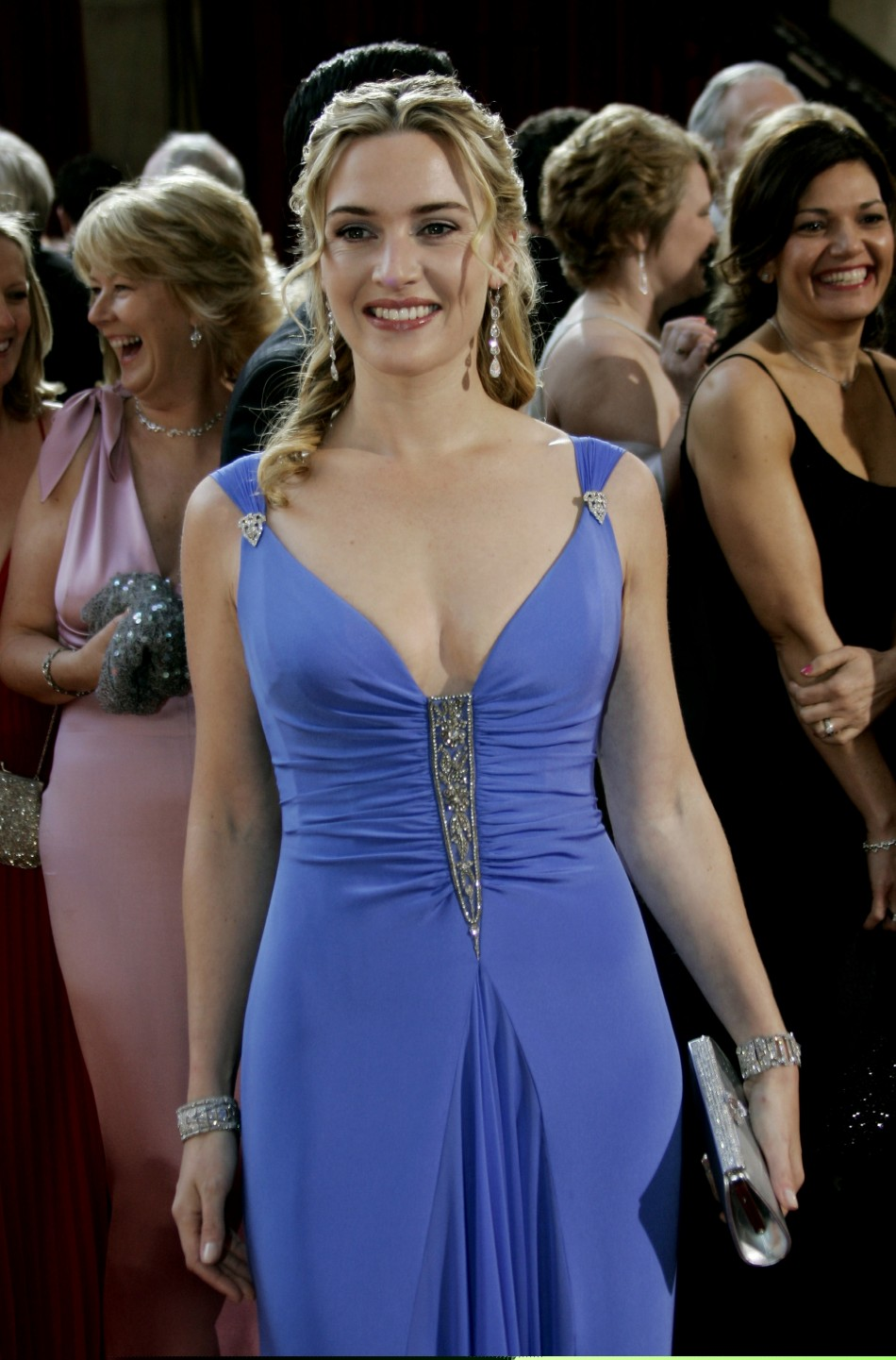Oscar nominee Kate Winslet of Great Britain arrives at the 77th annual Academy Awards.