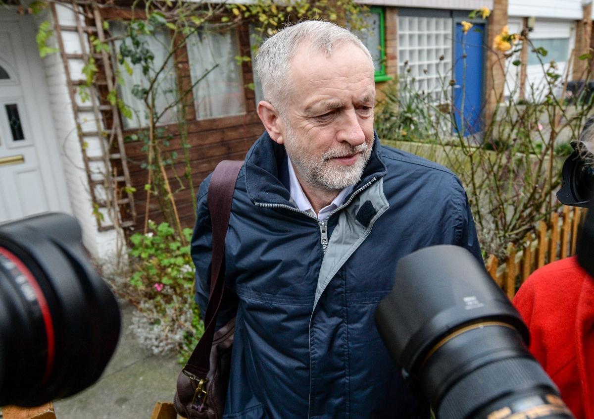 Jeremy Corbyn outside house