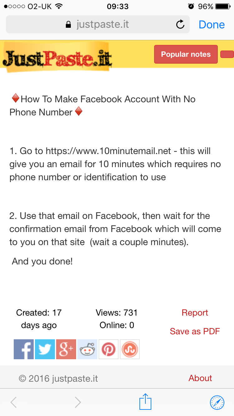 Instructions on making Facebook accounts quickly