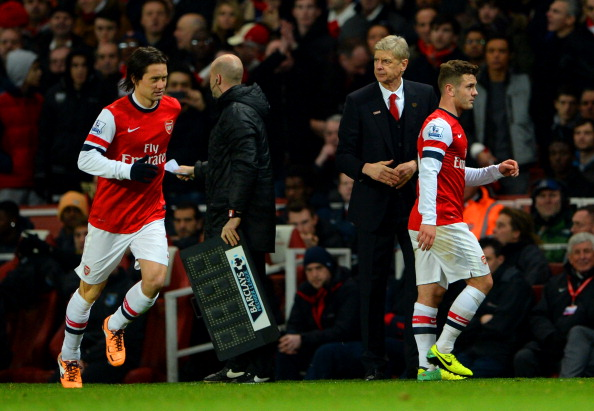 Jack Wilshere and Tomas Rosicky