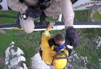 Man rescued