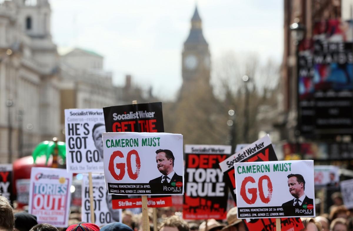 Cameron protest