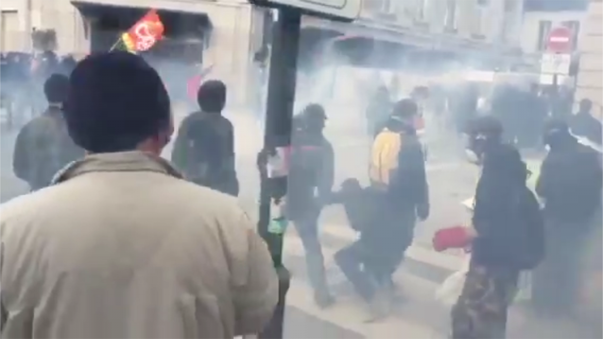 Tear gas in Rennes