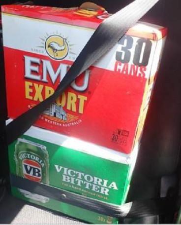 Beer seatbelts