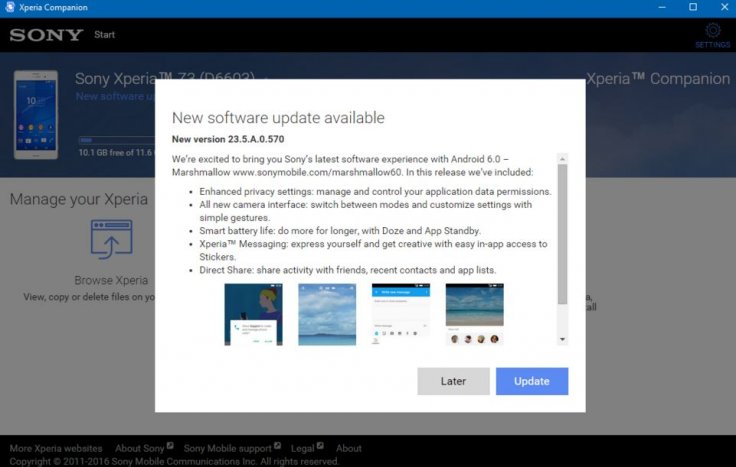 Android 6.0.1 for Xperia Z3