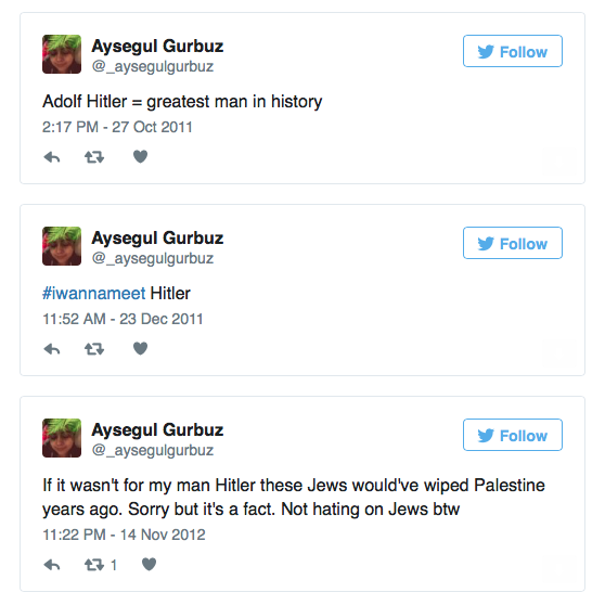 Aysegul Gurbuz, Labour Councillor Twitter