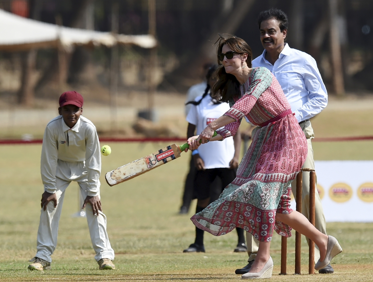 Duchess of Cambridge keeps her eye on the ball