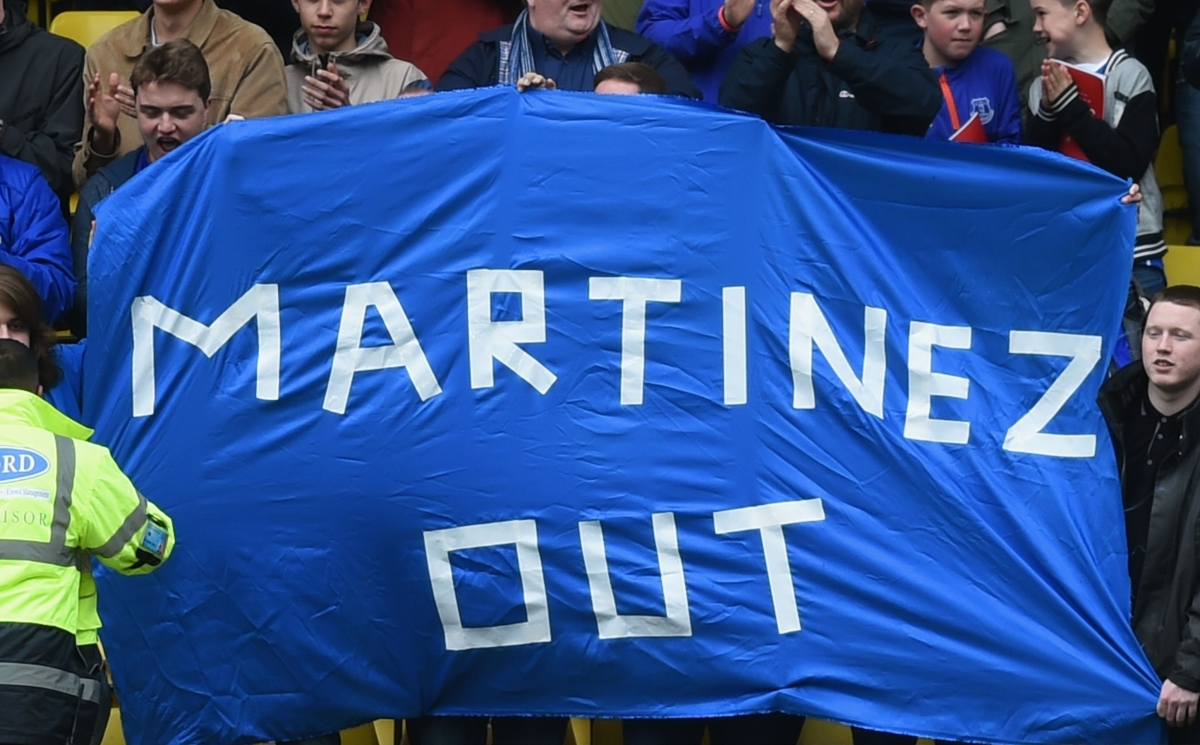 Everton fans have called for Martinez's sacking
