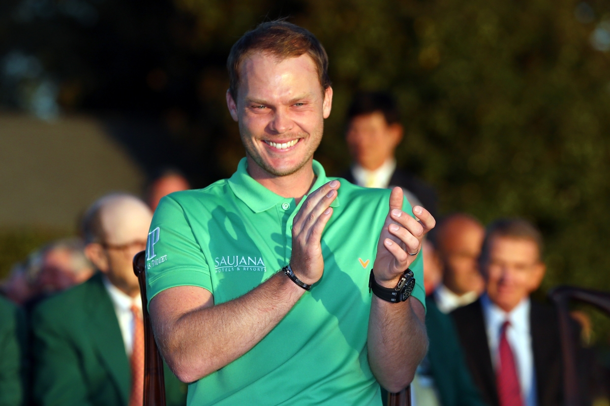 Danny Willett celebrates his Masters triumph
