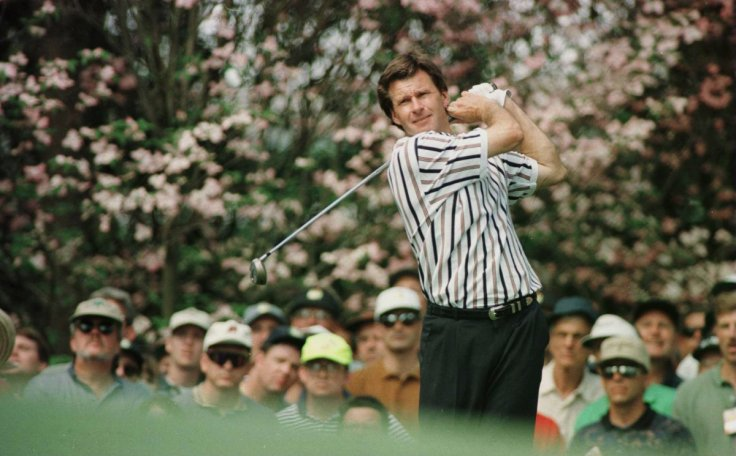 Nick Faldo at the Masters in 1996