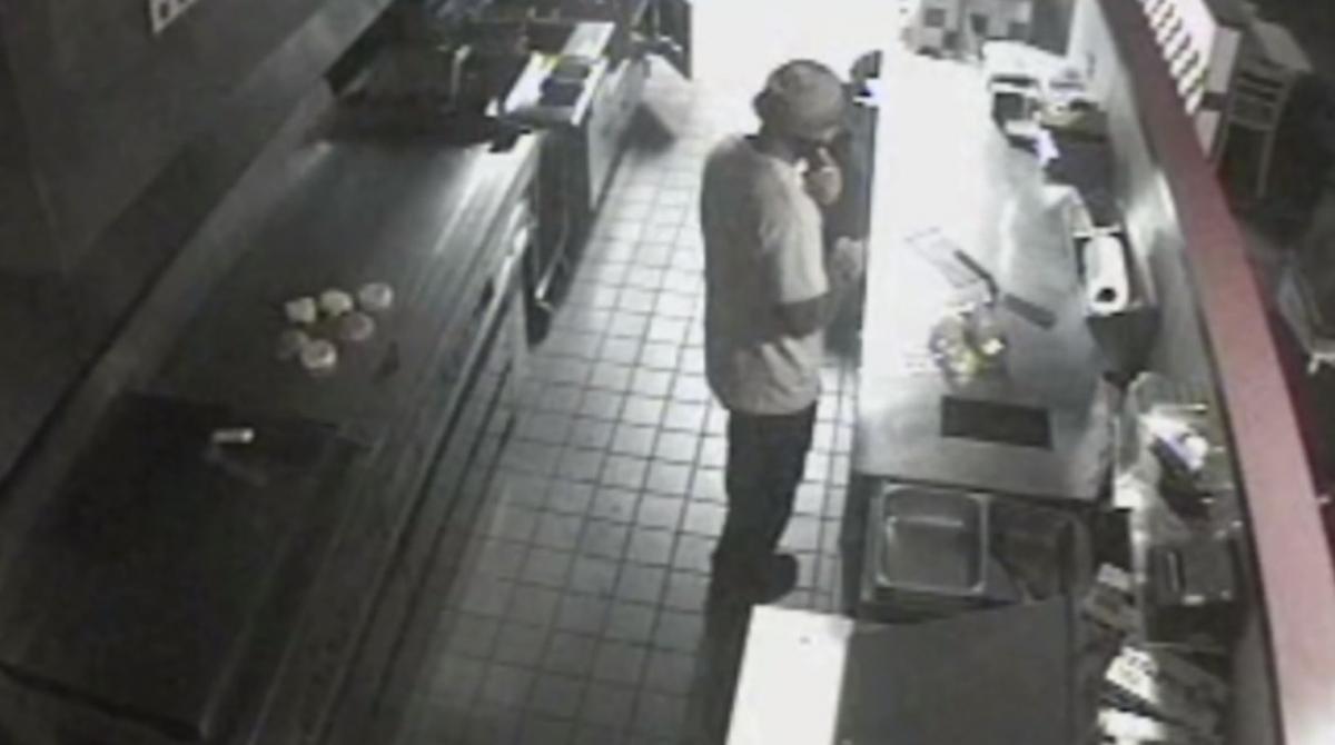 Burglary suspect cooks meal in Five Guys