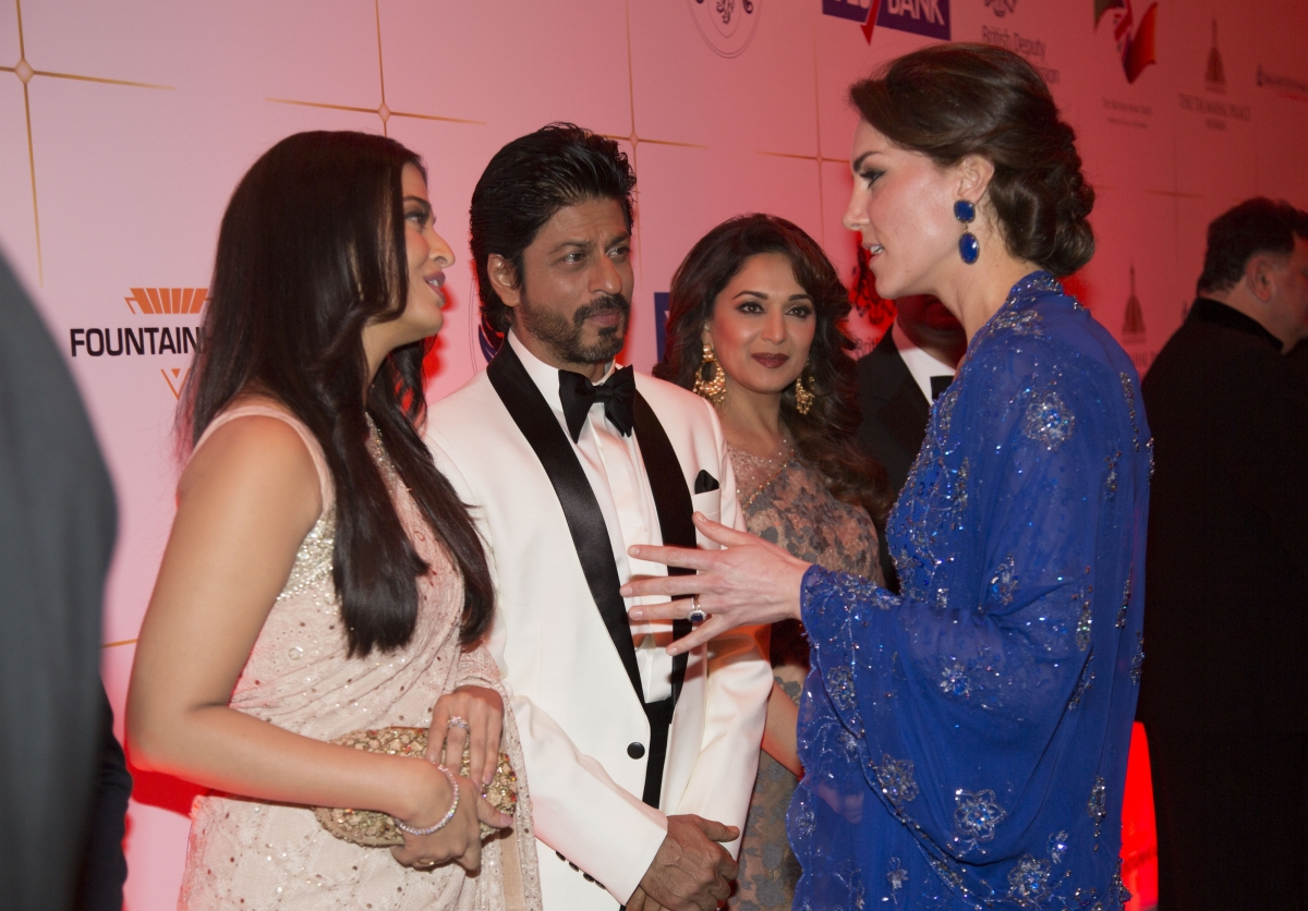 Duchess of Cambridge with Bollywood stars