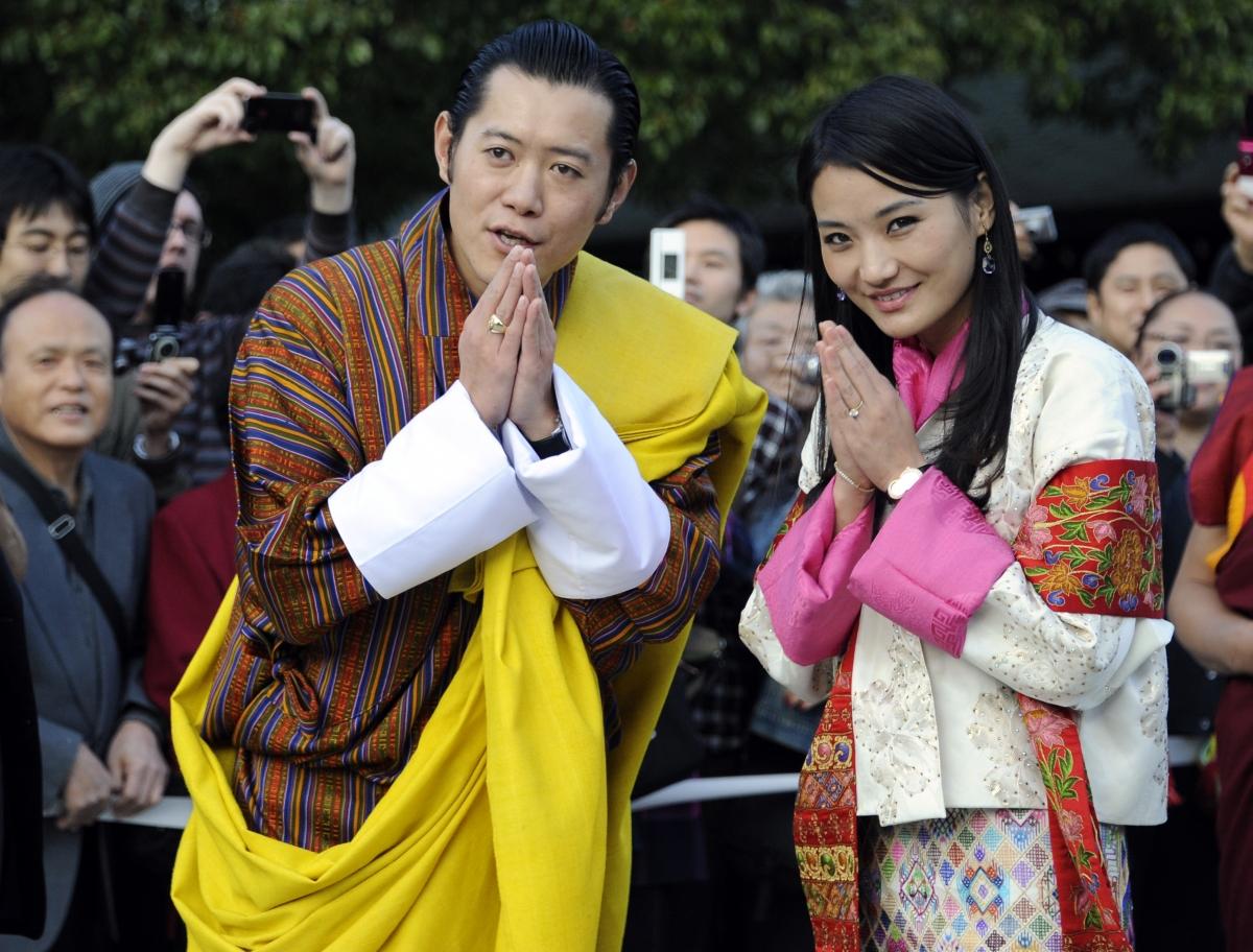 King Jigme And Queen Jetsun of Bhutan