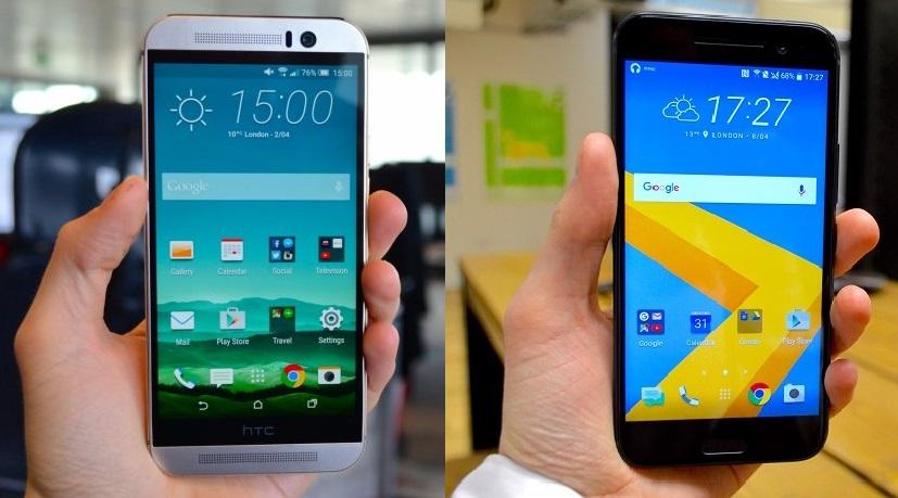 HTC M9 vs HTC 10