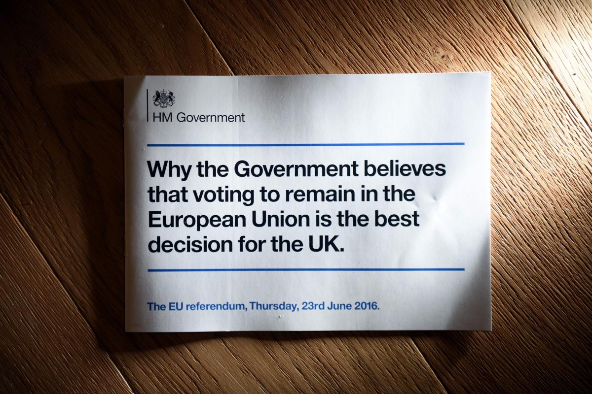 Pro-EU leaflet row